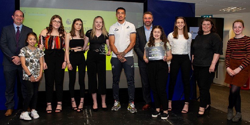 Neath school rewarded for work with Swansea City FC