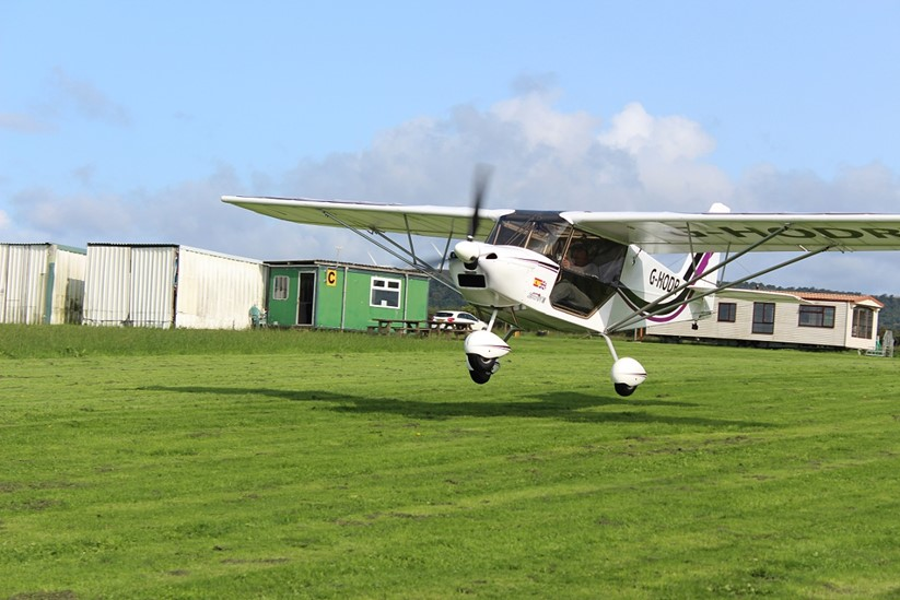 Flight to Spain from Port Talbot's little known airfield aims to aid heroes (pic, Andy Roberts)