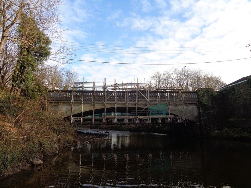 Pontwalby Bridge (Pictured during the repair work)