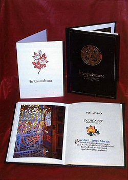 Memorial Card and Miniature Book of Remembrance
