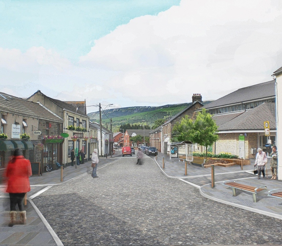 Artists Impression of Glynneath - Powell Dobson Urbanists